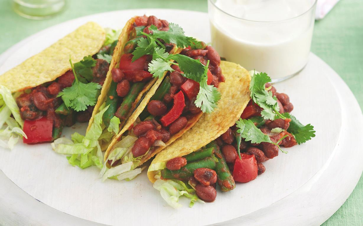 Vegetarian Tacos Recipe — Dishmaps