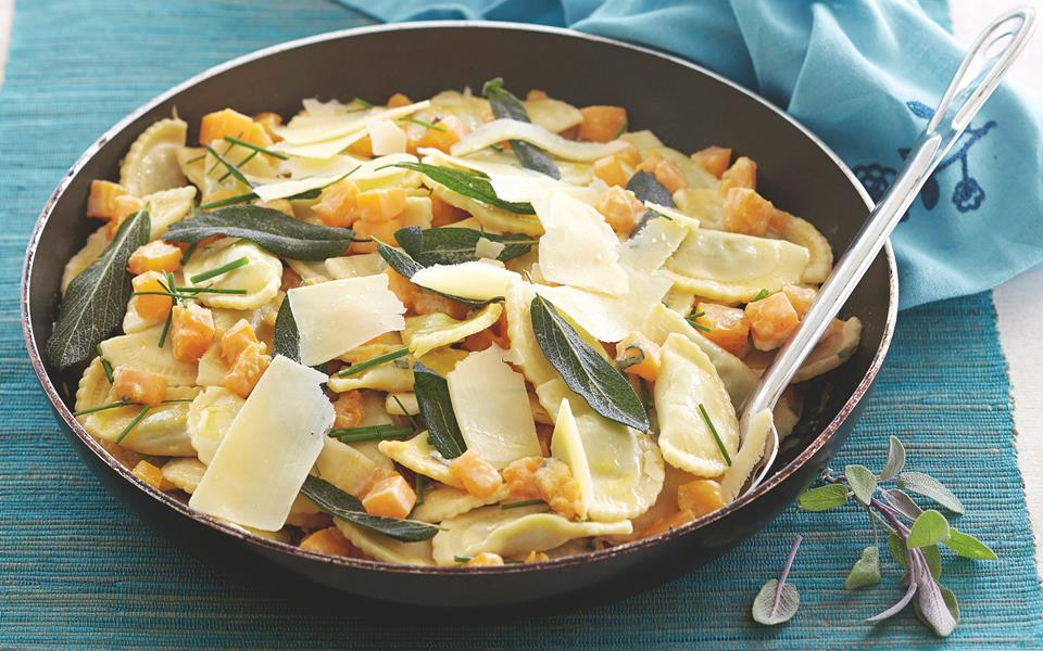 Sage and pumpkin agnolotti recipe | FOOD TO LOVE