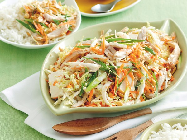Vietnamese-style chicken and tofu salad