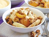 Apricot and ginger nut crumble