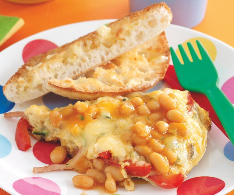 Spanish Style Baked Bean Omelette Australian Women S Weekly Food