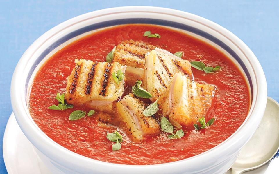 Roasted tomato soup with cheesy toasties recipe   FOOD TO LOVE