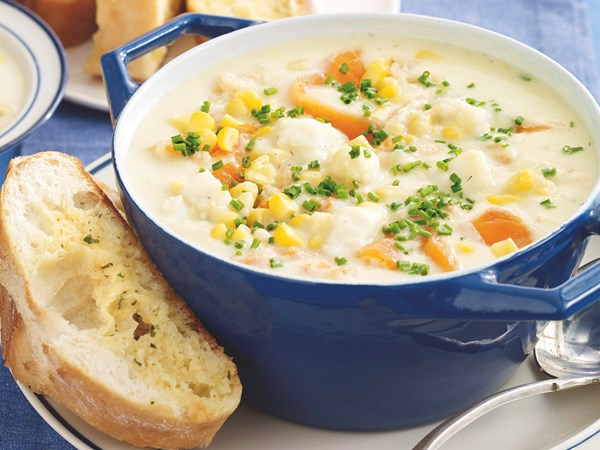 how to make seafood chowder recipe