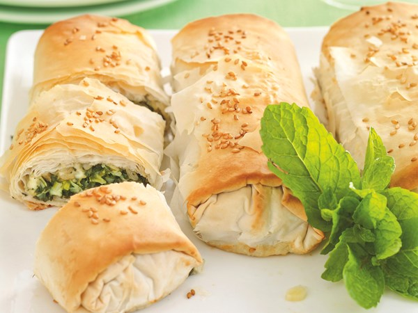 Cheese and silverbeet rolls