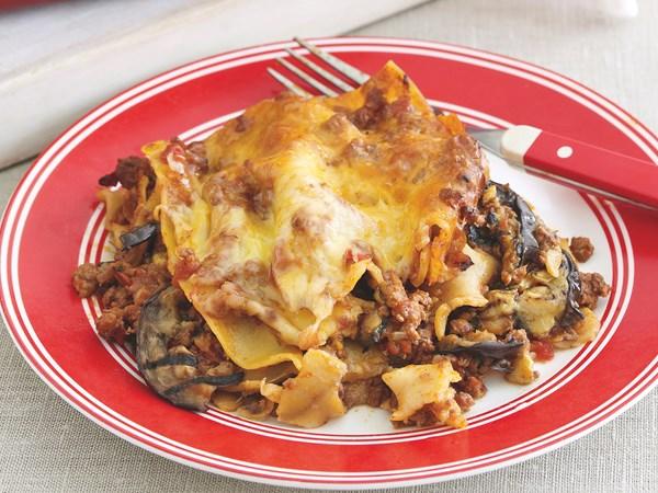 Lamb and eggplant lasagne