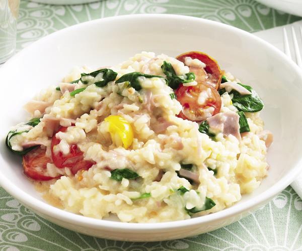 Ham spinach and tomato risotto recipe food to love for Ham risotto recipe