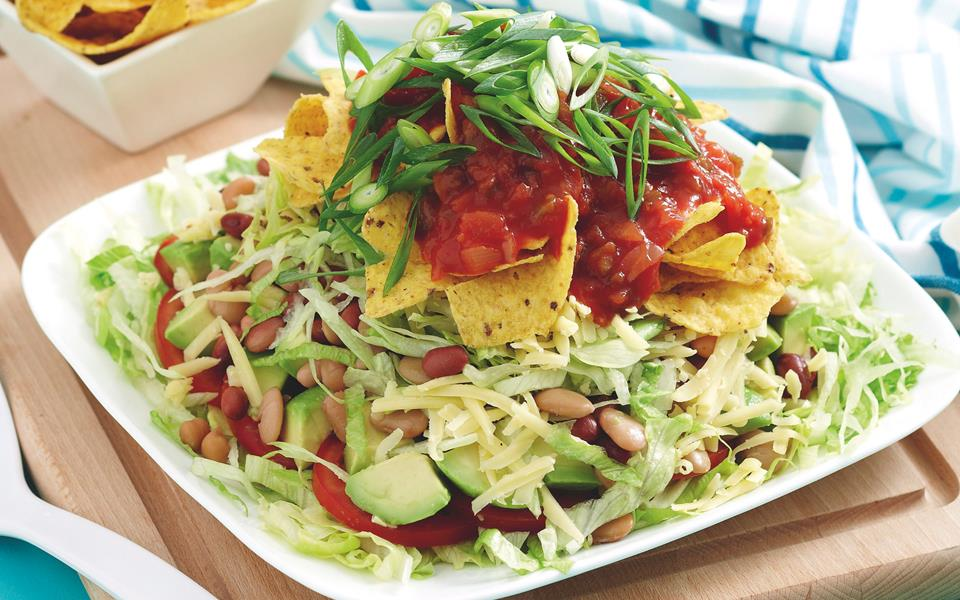 Mexican layered bean salad recipe | FOOD TO LOVE