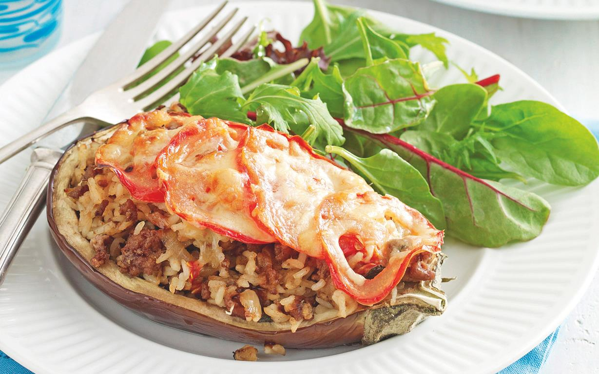 Greek style stuffed eggplant recipe food to love greek style stuffed eggplant forumfinder Image collections