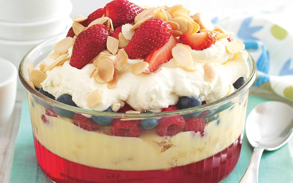 Summer mixed berry trifle recipe | FOOD TO LOVE