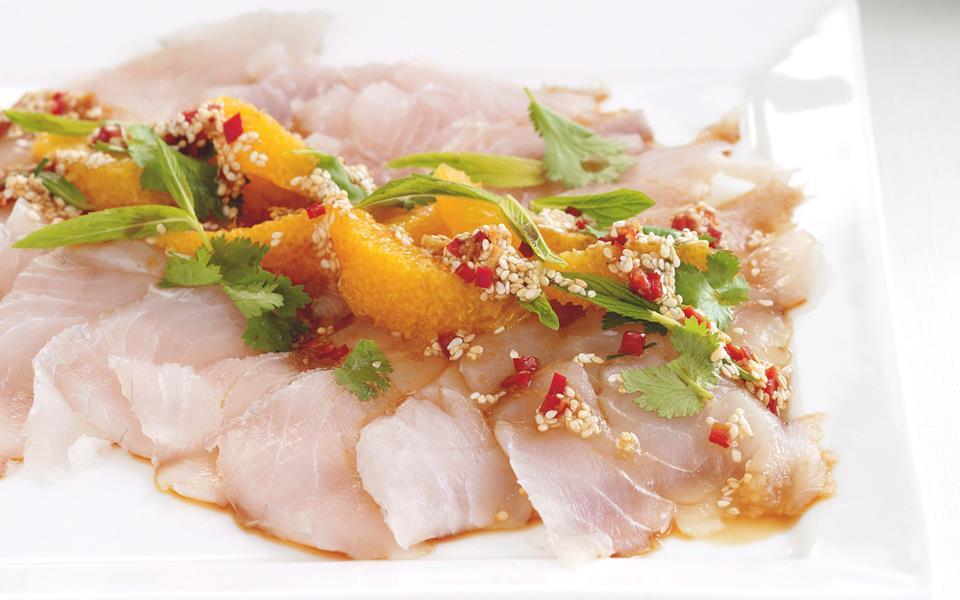 Barramundi sashimi with sesame dressing recipe food to love for Sashimi dressing