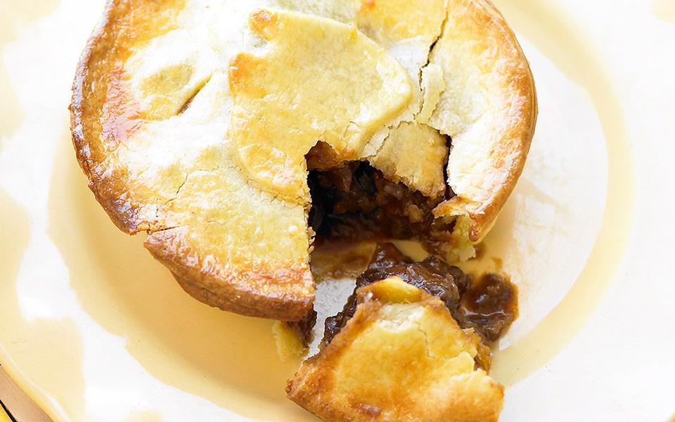 Beef, bacon and mushroom pies recipe | FOOD TO LOVE