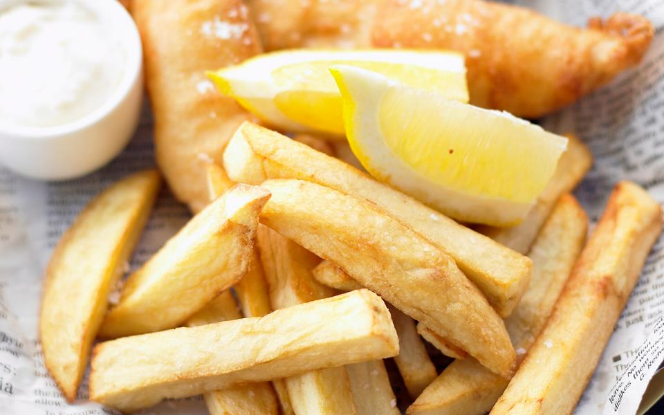 Beer-battered fish and chips recipe | FOOD TO LOVE