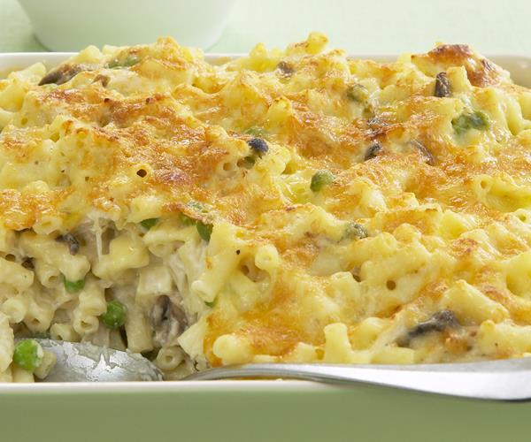 Chicken, mushroom and brie macaroni bake recipe | Food To Love