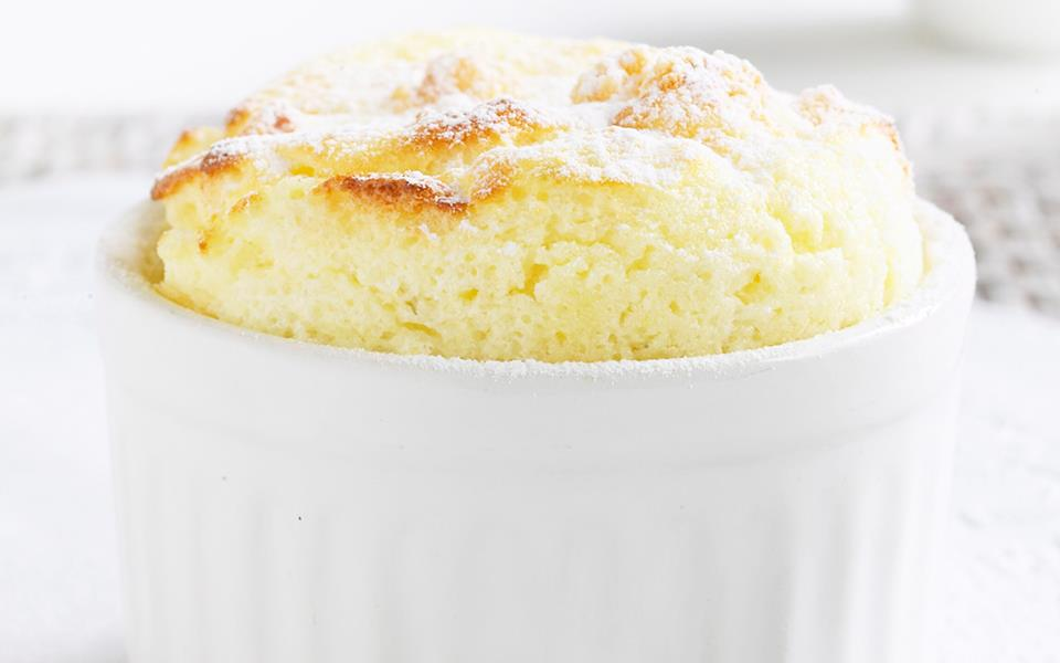 Citrus souffle with white chocolate sauce recipe | FOOD TO LOVE