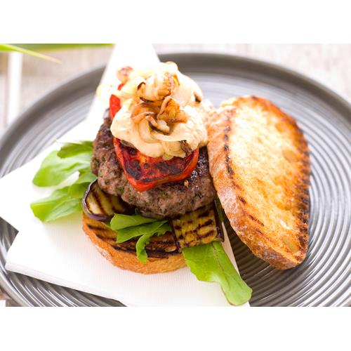 Grilled beef and vegetable burgers recipe | Food To Love