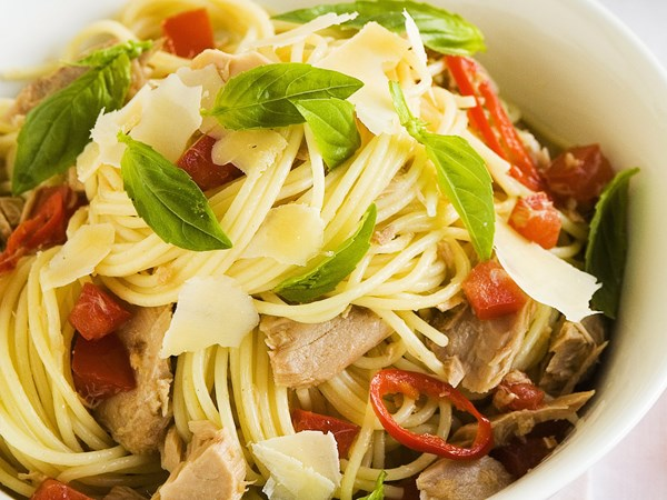 Chilli tuna spaghetti