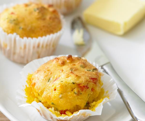 Corn, capsicum and cheese muffins recipe | Food To Love