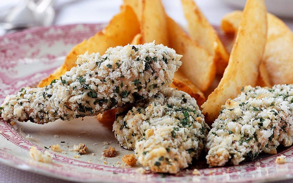 Crispy parmesan chicken recipe | FOOD TO LOVE