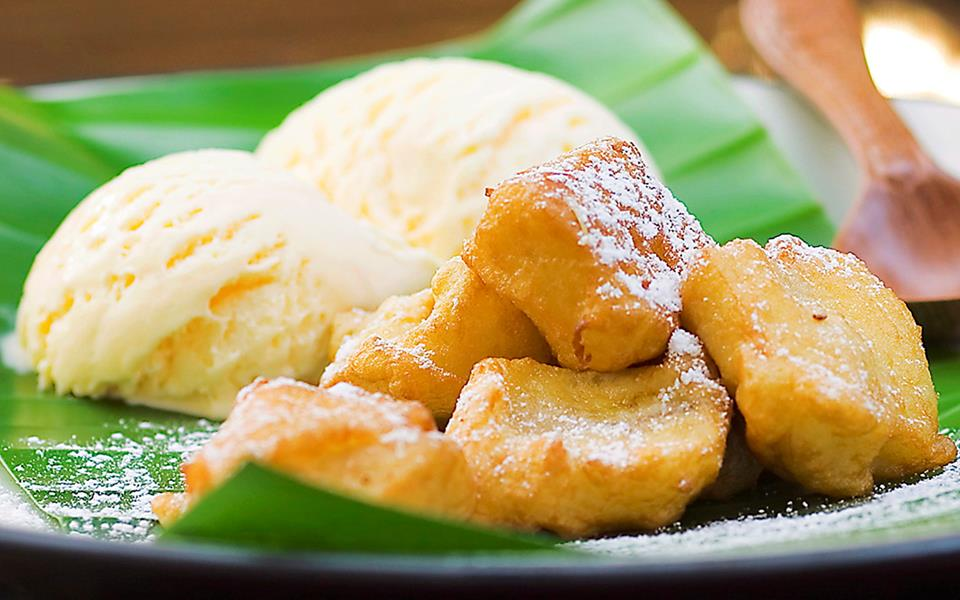 Coconut Banana Fritters Recipe — Dishmaps