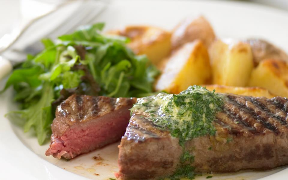 Grilled steak with parsley butter recipe | FOOD TO LOVE