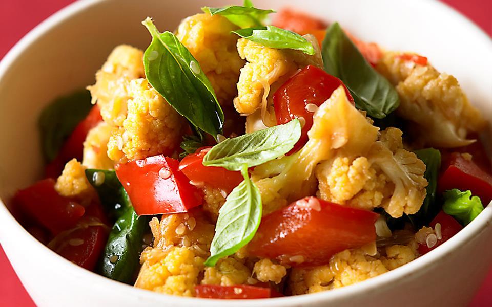 Stir-Fried Cauliflower Recipe — Dishmaps