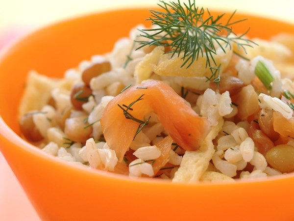 Smoked Salmon Rice