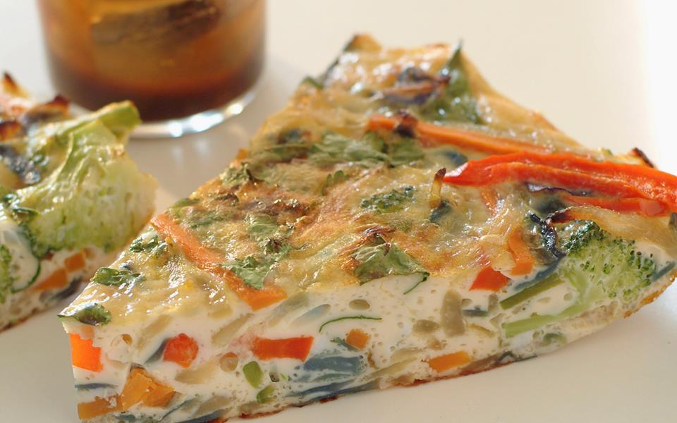 Light vegetable frittata recipe | FOOD TO LOVE