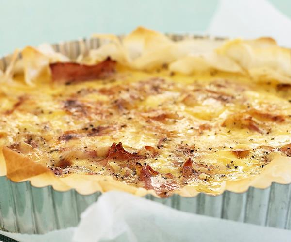original quiche lorraine with ham and cheese recipe food to love. Black Bedroom Furniture Sets. Home Design Ideas