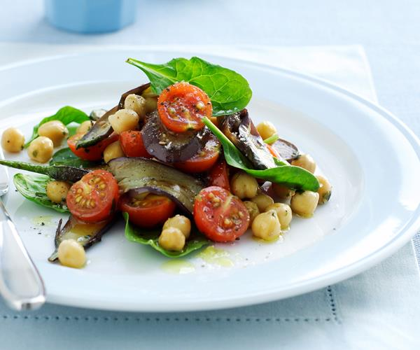 Chickpea, eggplant and tomato salad recipe | Food To Love
