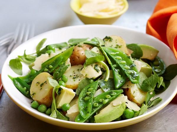 Three pea and potato salad