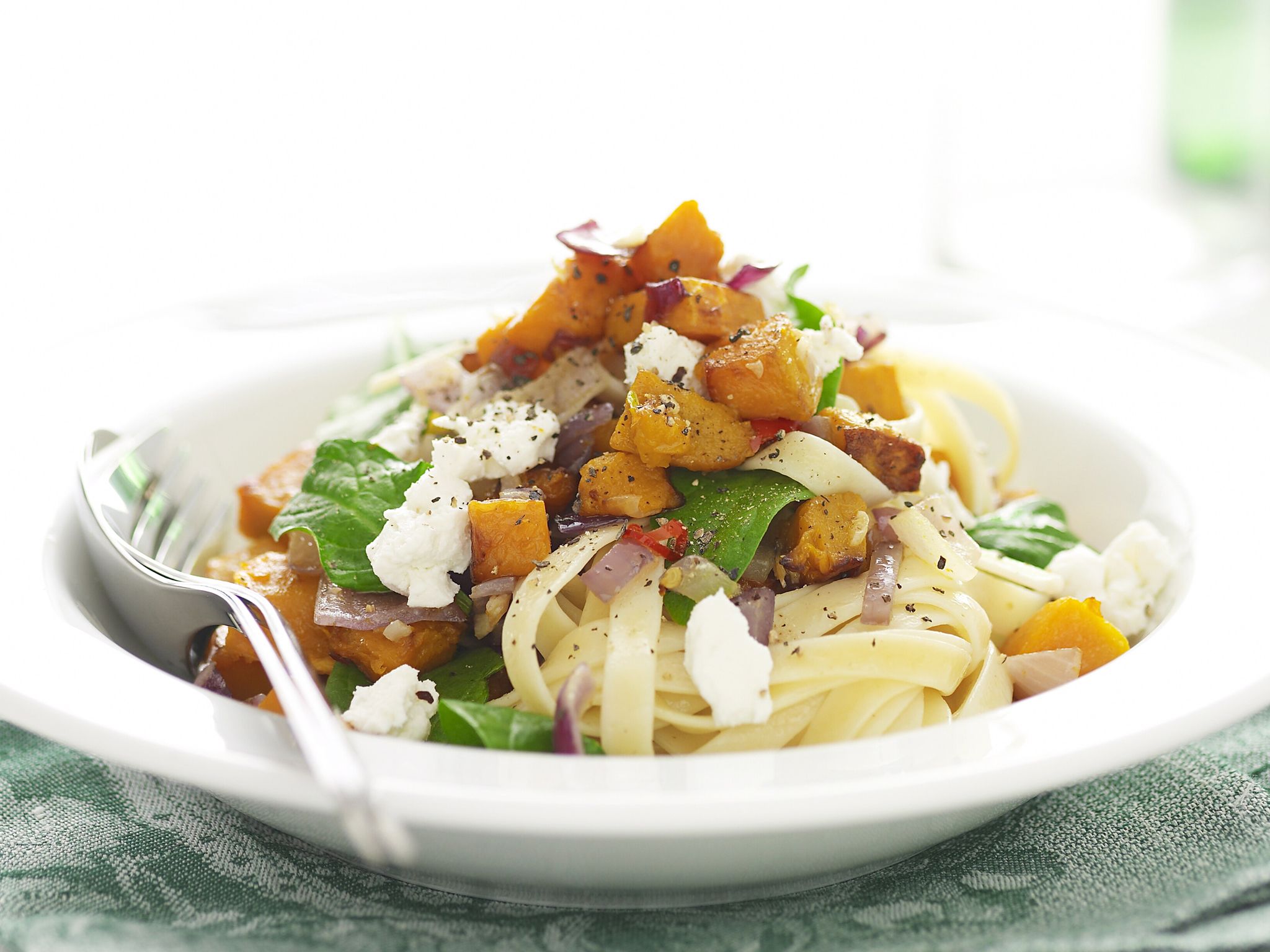 Pumpkin goat cheese pasta recipe