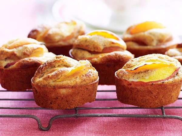 Peach and hazelnut friands