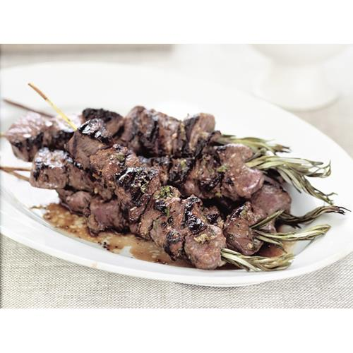 Lamb on rosemary skewers with tzatziki recipe | Food To Love