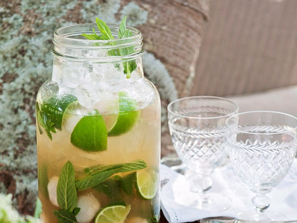 Mint and lychee caprioscas