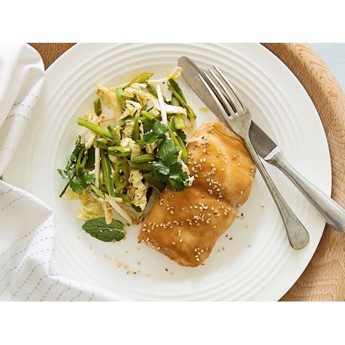 Miso glazed fish with crisp asian salad recipe food to love for Miso sauce for fish