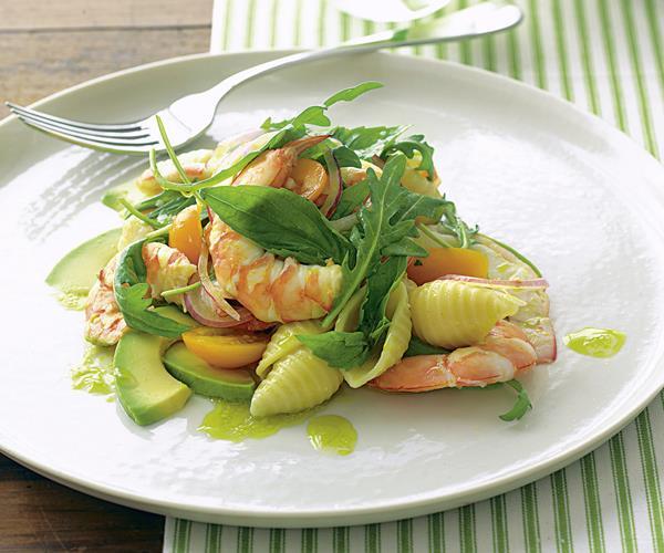 Prawn and avocado pasta salad recipe food to love for Prawn and pasta salad recipes