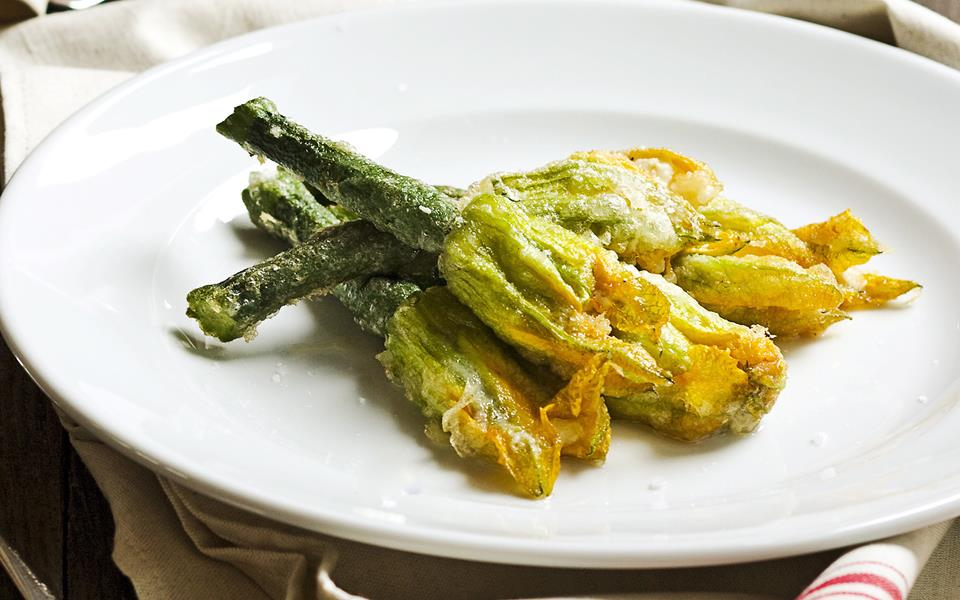 Stuffed zucchini flowers recipe | FOOD TO LOVE