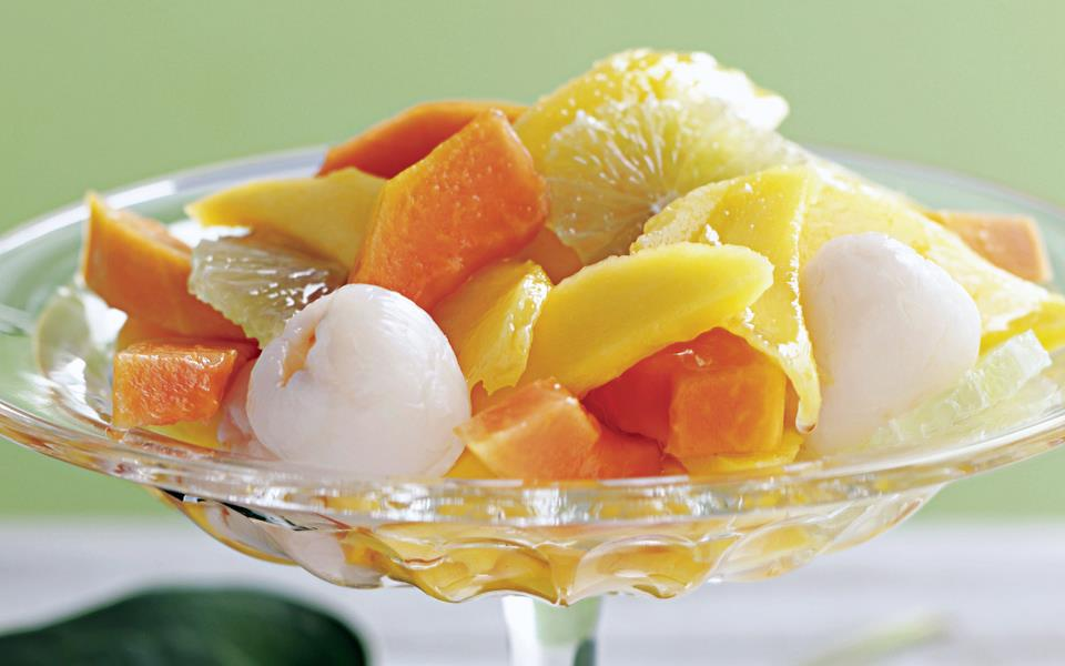 Tropical fruit salad with lime syrup recipe | FOOD TO LOVE