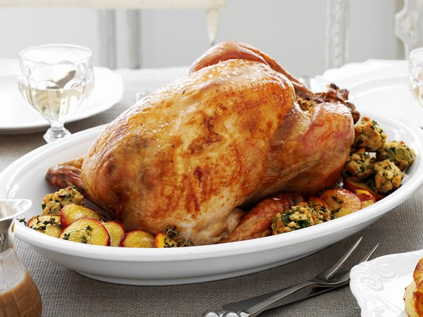 Turkey with lemon parsley seasoning