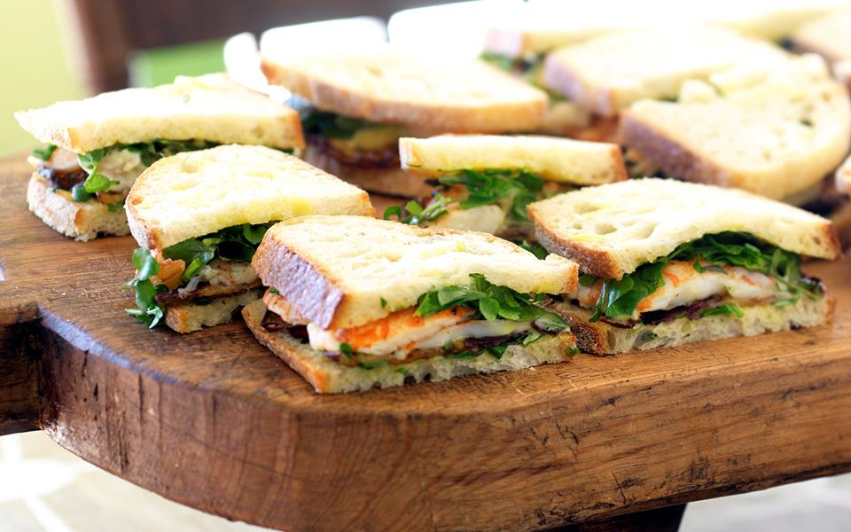 Yabby sandwiches with eggplant, watercress and mayonnaise recipe ...