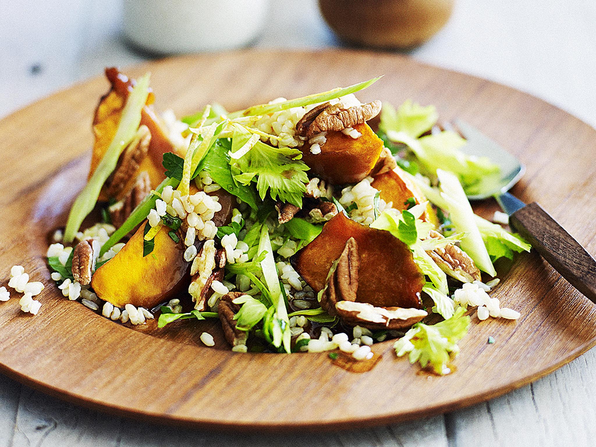 Roasted Pumpkin Salad Recipe — Dishmaps