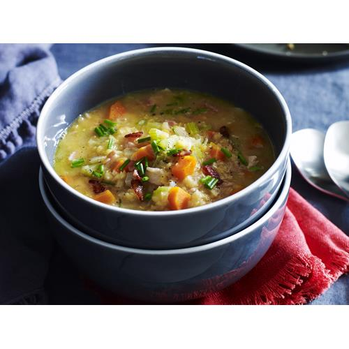 Hearty bacon, lentil and vegetable soup recipe | Food To Love
