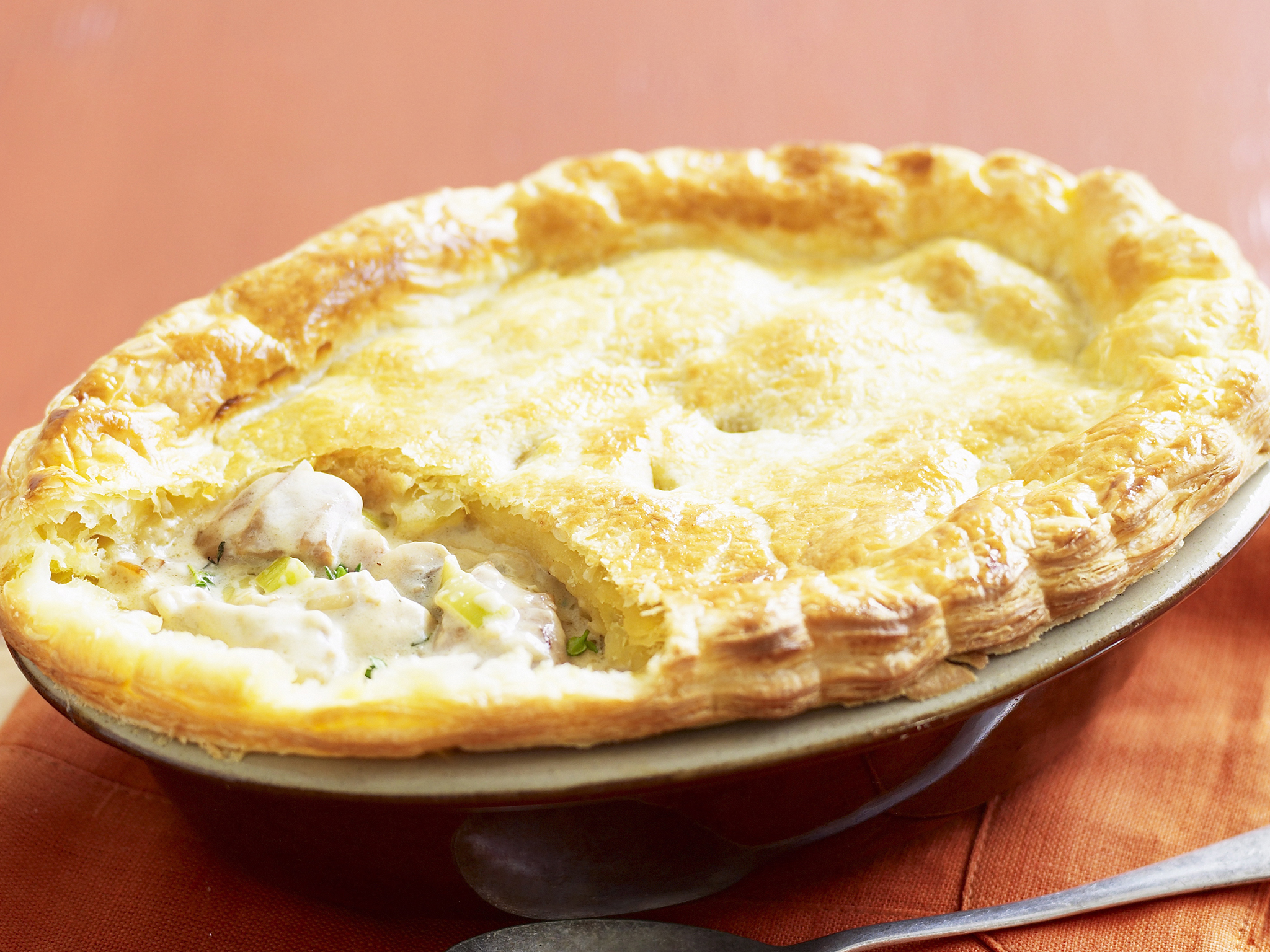 Creamy chicken leek and blue cheese pie recipe food to love forumfinder Choice Image