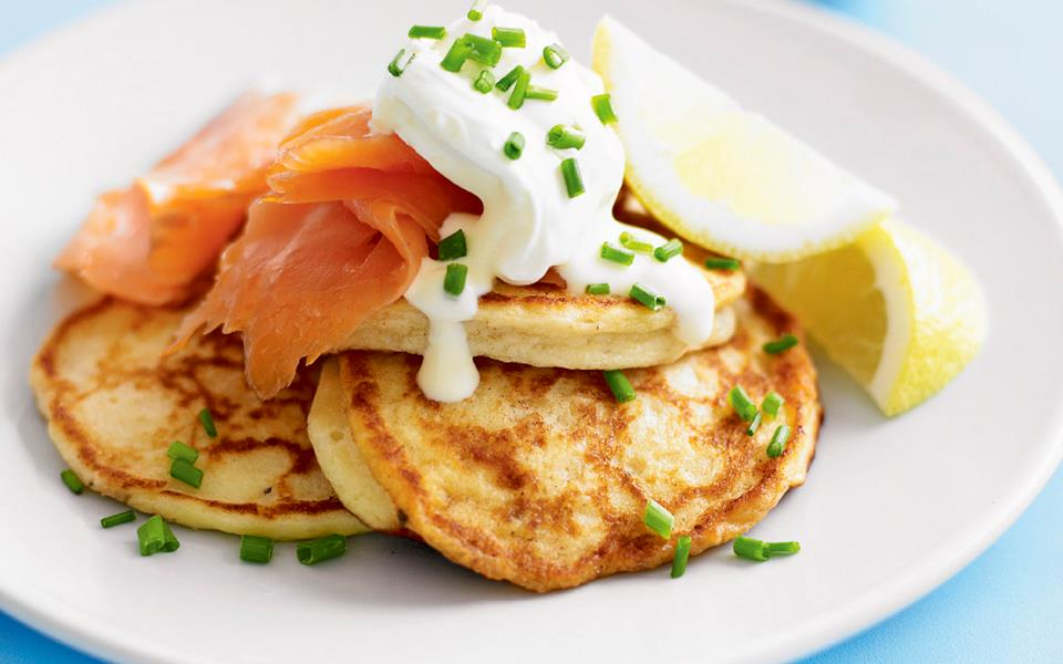 ... pancakes with smoked salmon and creme fraiche recipe | FOOD TO LOVE