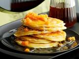 Ricotta lemon pancakes with honey