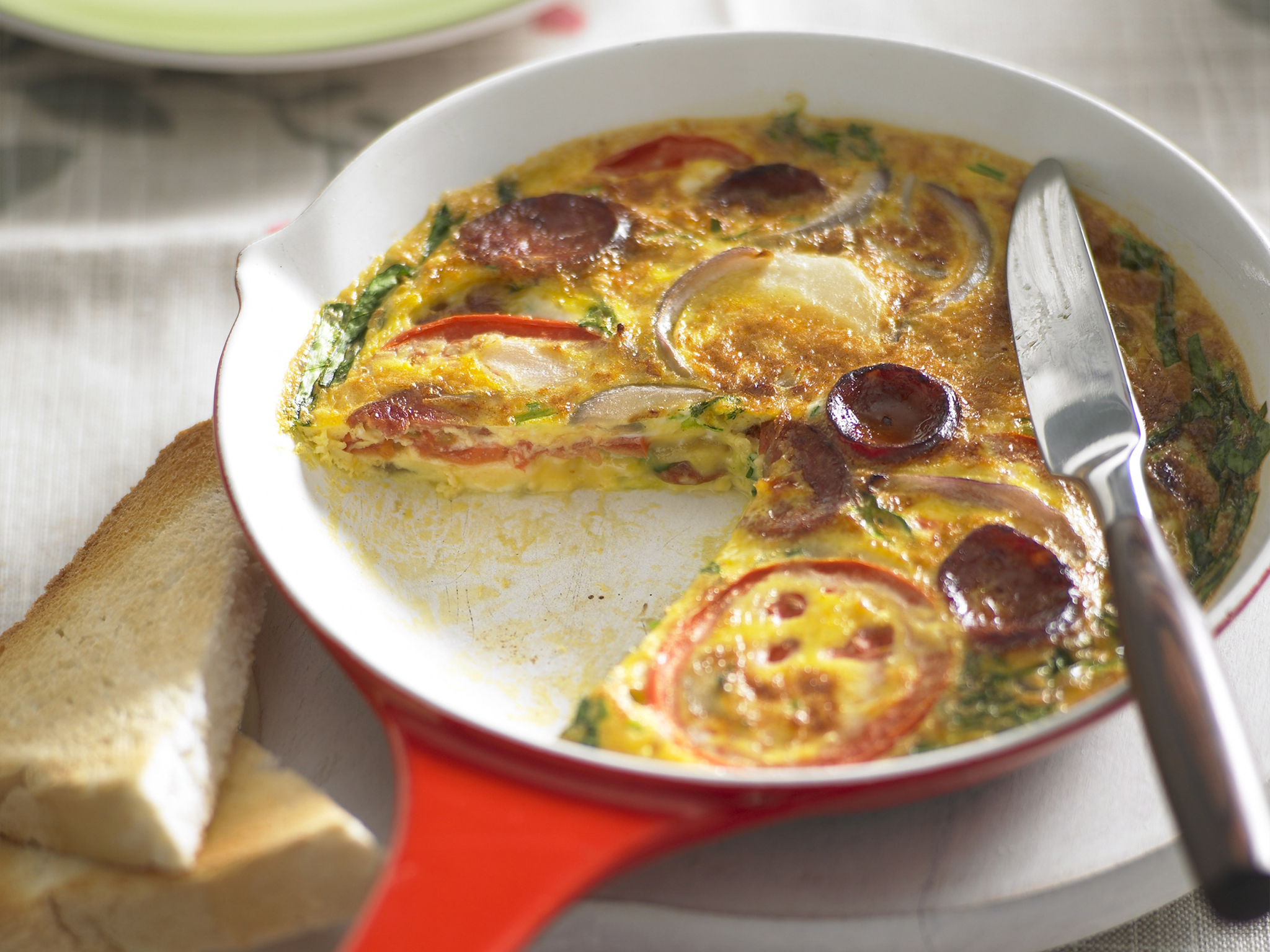 picture Spanish Tortilla with Chorizo and Peppers