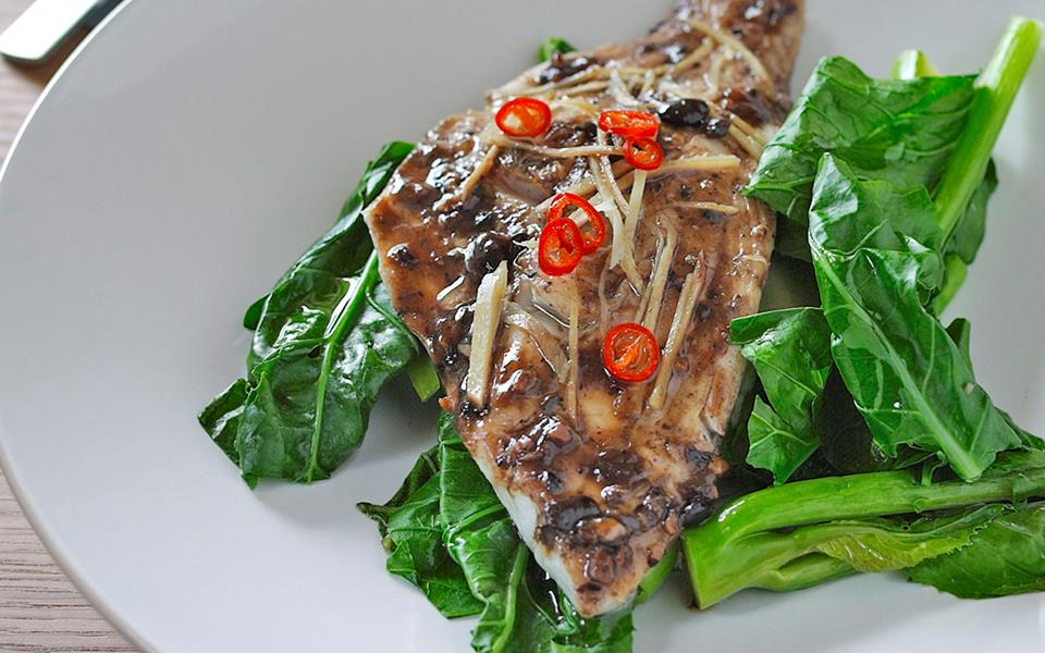 Steamed fish with black bean and chilli sauce recipe | FOOD TO LOVE