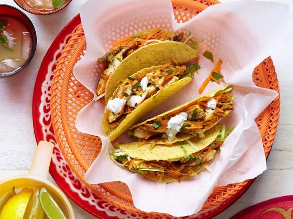 Citrus chicken tacos