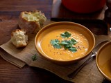 Kumara and coriander soup