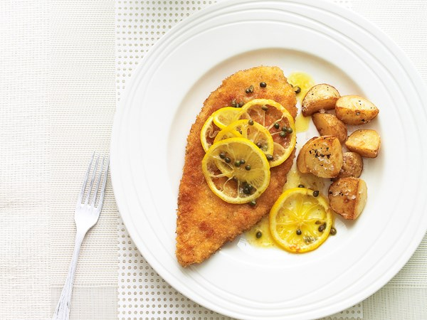 Lemon chicken schnitzels